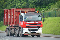 DAF CF Bithell's Ltd Skip Loader PO59 WPZ (SR Photos Torksey) Tags: truck transport haulage hgv lorry lgv logistics road commercial vehicle freight traffic daf skip loader bithells