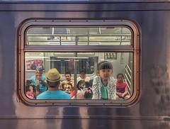 Portrait (mookie.nyc) Tags: street portrait brooklyn underground subway children coneyisland child looking framed streetphotography mta inside peoplewatching peering lookingout subwayplatform peopleinnyc subwaypeople mookienyc insideofawindowframe