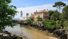 380-June'16 (Silvia Inacio) Tags: cascais portugal lighthouse farol tree rvore house