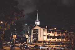 Serenity (kiawui) Tags: night queenstreet 40mm church voigtlander nightshot singapore cars road street streetphotography