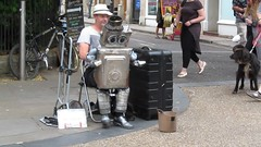 Tappy the Robot - video (pefkosmad) Tags: tappytherobot jondempsey streetperformer street performer entertainment summer oxford oxfordshire oxon tappy music entertainer fun film movie video