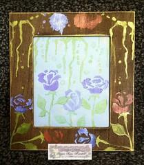 DT make for Creative Artiste Blog (CraftyBev) Tags: frame stencils inka gold dt make mixedmedia cre