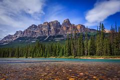 Castle Mountain - Banff National Park (achinthaMB) Tags: castlemountain banffnationalpark canadianrockies rockies mountain bowriver castlejunction