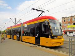 """Pesa 134N """"Jazz"""", #3824, Tramwaje Warszawskie (transport131) Tags: tram tramwaj pesa tw ztm warszawa warsaw 134n jazz"""