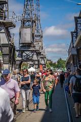 Cranes (clogette) Tags: bristol bristolharbfest bristolharbourfestival cranes harbourside people harbour festival england unitedkingdom gb