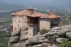 Greece 1278 - Meteora nunnery (Zarako) Tags: greece meteora trip brick building church house monastery mountain stone