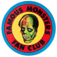 Famous Monsters fan club button (Tom Simpson) Tags: famousmonsters fanclub button vintage famousmonstersoffilmland horror