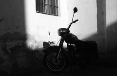 Ricoh TLS 401 with Helios-44-2 - Bike (Kojotisko) Tags: ricohtls401 ricohtls helios442258 helios442 bw brno czechia czechrepublic film fomapan100 rodinal creativecommons