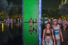 Woodstock in Da City (DCullenV) Tags: photo photography street streetphotography streetlight water fountain pool fuente foto candid handheld rangefinder chicago illinois usa millenniumpark youth young summer celebration groups social urban plaza park public publicspace city lollapalooza night fuji fujifilm x100t exterior outdoor wet promenade juventud digital decv david cullen vidal nocturnal nocturno nocturne geotagged crownfountain art reflecting sculpture led publicart trees foliage buildings lollapaloozians ps surreal cool bb b