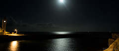 Porthleven (Richard McMellon) Tags: porthleven cornwall night harbour sea moon coast town
