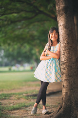 Little asian girl (Patrick Foto ;)) Tags: asian background beautiful cheerful child childhood concept copy cute environmental female forest girl grass green happiness happy hugging kid leaning little looking nature one outdoors park people person playing posing pretty smiling space spring standing summer thai thailand tree trunk young bangkok krungthepmahanakhon th