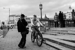 The Score (James Hodgson Photography) Tags: black white monochrome brighton hove 2016 fuji x100s street photography bw candid reportage bike dealer drugs seafront sealife promenade