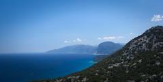 Sardinian Landscape (oliko2) Tags: sardinia island landscape sea beach mountains blue water sky clouds mist summer italy nikond7100 outdoor