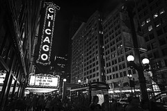 Film Noir III (Anthonypresley1) Tags: chicago illinois night monochrome city building buildings architecture life street lights