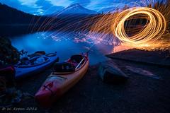 IMGP1272.jpg (wkreun) Tags: mthood reflection fire oregon trilliumlake kayak dusk
