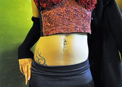 Bella's Hips (Mental Octopus) Tags: girl woman youngwoman stripper striptease erotic caucasian belly hip sexy indoor pose safari sextheater hamburg person showgirl provocative tease nightlife bargirl germany reeperbahn redlight redlightdistrict sexworker workingpoor socialissue