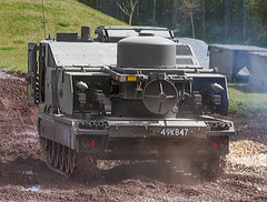 Tracked Rapier from the Rear (f0rbe5) Tags: trackedrapier rear rapier rapiersurfacetoairmissile rapiersam surfacetoairmissile sam missile guidedmissile britisharmy royalairforce army airforce raf british 1971 airdefenceweapon airdefence iran mobile britishaircraftcorporation bac m548 11sphinxairdefencebattery 22airdefenceregiment royalartillery 199091 12regiment 16regiment retired armouredfightingvehicle afv trackedvehicle tracked vehicle machine 49kb47 display tankmuseum museum bovington dorset uk 2009
