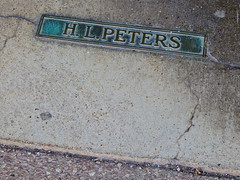 H.L. Peters, Buffalo, NY (Robby Virus) Tags: buffalo newyork ny state upstate brass plaque sidewalk cement concrete pavement hl peters sporting goods