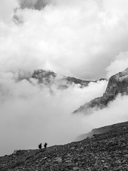 Climb up to Frndenhtte SAC (Anneke van Beek) Tags: blackwhite kandersteg switzerland zwitserland hiken zwartwit
