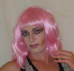 Still more pink (queen.catch) Tags: catchqueenyoutube catchqueen pink sissy tranny transvestite shemale wig makeup