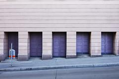 Street Silence (CoolMcFlash) Tags: closed door street vienna austria canon eos 60d tamron b008 18270 lines nobody pavement facade fassade tre geschlosen gehsteig architecture wien architektur building fotografie photographie niemand symmetrie symmetry urban city stadt stdtisch linien