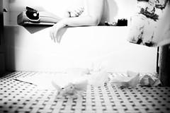 "Lillias Right  ""Voyeur"" (serrini) Tags: lilliasright nude model tub underwear vintage sexy blackandwhite photoshoot wet art"