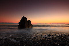 (RicardoPestana2012) Tags: seascape sunset sea beach sky rock cobblestone blacksand madeira madeiraisland praiaformosa