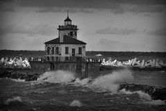 Lighthouse (Created by M) Tags: lakeontario lighthouse water wind