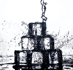 Splish Splash (johnsinclair8888) Tags: watersplash macro bw water art 105mm sigma nikon d750 backlight macromondays dof blackandwhite cubes crystal motion splash depthoffield wow