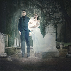 'Ghost Family Values' (Natasha Root Photography) Tags: natasharootphotography inspire imagine create painterly ghost ghostly family cemetery likeapainting levitation orbs spooky spirit supernatural squareformat square baby