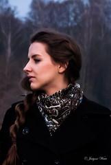 Selfportrait (justyna.wiatr) Tags: autumn portrait woman selfportrait girl twilight nightfall