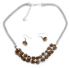5th Avenue Brown Necklace P2310A-4
