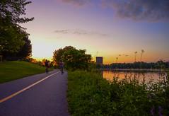 Warm summer evening bike ride (markt_photo) Tags: sunset summer water bikepath bike canal warm ottawa dowslake