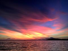 Krabi sunset (PeterCH51) Tags: sunset sea sky thailand scenery colours colourful krabi aonang iphone earthasia peterch51