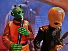 Doda Bodonawieedo and Barquin D`an (Max Rebo band). (Felinomoruno) Tags: retur jedi figures dioramas photos star wars hasbro vintage return the jabbas palace starwars