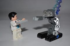 Short Circuit (Gunner S Lego) Tags: robot lego 5 five short circuit bit bot malfunction johnnycake