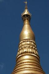 gold apex of the pagoda spire (cam17) Tags: shwedagon yangon burma stupa myanmar vane shwedagonpagoda rangoon shwedagonpaya lotuspetals bananabud umbrellacrown diamondbud