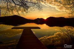 Nikon D750 alla ricerca del flare anomalo 2 (Tiziano Photography) Tags: trees sunset sky panorama sun lake mountains alberi clouds montagne reflections landscape lago pier nikon tramonto nuvole cielo d750 sole riflessi molo nikond750