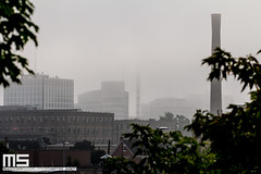 Foggy Skyline (Matt M S) Tags: city urban ontario downtown king metro kitchener area metropolitan core kw kitchenerwaterloo downtownkitchener kitchenerontario dtklove kwontario