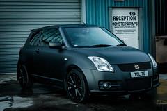 Suzuki Swift Matte black wrap (Sean at Monsterwraps Ltd) Tags: uk cars car automotive swift suzuki southampton matteblack carwrap matteblackwrap mattewrap monsterwraps