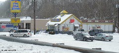 Long John Silvers -- Harlan, KY (xandai) Tags: city winter food snow storm retail shopping store discount yum bell fast mcdonalds walmart pizza foodies hut taco wendys stores brands harlan octavia rax dons justified roastbeed us421 harlancounty harlanky justifiedfx harlanco winter2015