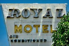 Royal Motel (1951), sign, 7411 Biscayne Blvd, Upper East Side (UES), Miami, FL, USA (lumierefl) Tags: usa sign unitedstates florida miami south mimo 1950s northamerica artdeco fl southeast 20thcentury uppereastside subtropics miamidadecounty