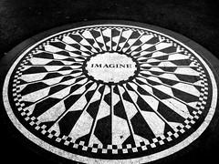 imagine that (frankieleon) Tags: nyc blackandwhite bw newyork hope memorial peace centralpark cc vision future creativecommons imagine imagination care johnlennon strawberryfields gardenofpeace imaginemosaic frankieleon newyorkcityattraction