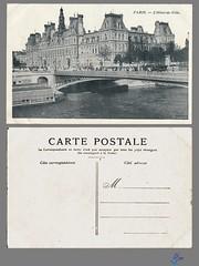 PARIS - L'Hotel-de-Ville (bDom) Tags: paris 1900 oldpostcard cartepostale bdom