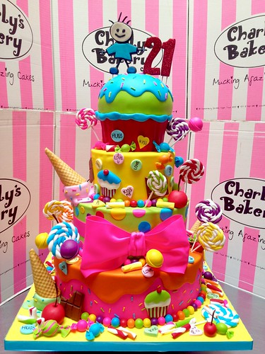 4 Tier Candy Land Themed Red Cross Hospital Trust 21st Birthday Cake