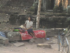 Angkor Child Hawker on her Break