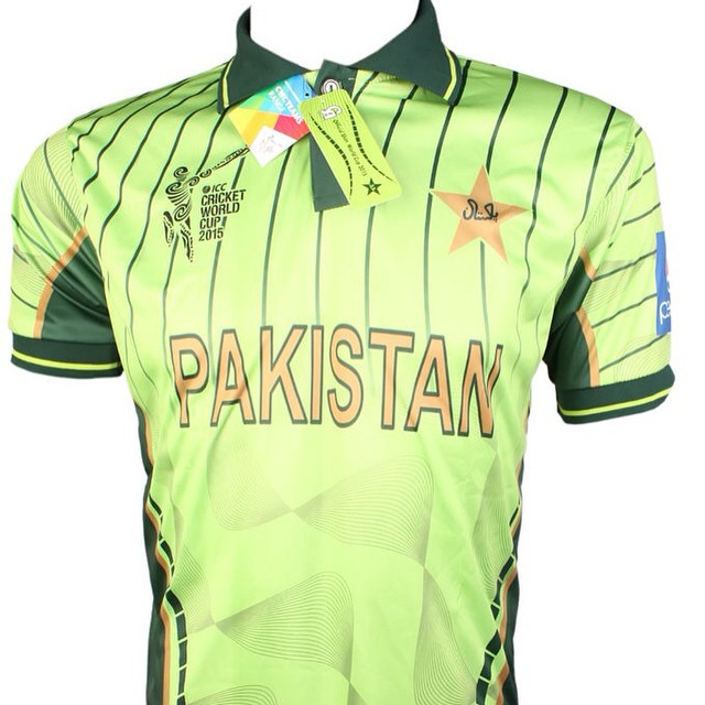 Got my official Pakistan team kit for the Cricket World Cup 2015. #pakistan #cricketteam #OfficialKit #CW2015 #happy  #proud2bePakistan