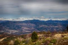 Vista de los Pirineos desde el puerto de Monrepós (Huesca)