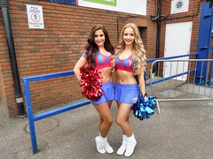 The Crystals cheerleaders (Paul-M-Wright) Tags: park uk girls england sexy london march cheerleaders crystal soccer 14 saturday palace queens blonde match british premier rangers league versus 2015 selhurstpark cpfc selhurst thecrystals