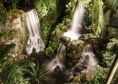 Faux Waterfall (fantommst) Tags: road lighting nature water garden hotel waterfall singapore long exposure time grand indoors manmade faux multiple hyatt scotts singapur feature outram lisaridings fantommst